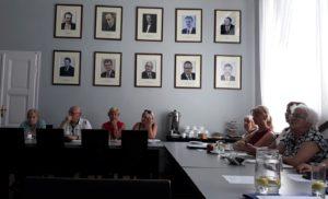 Członkowie Rady ds.Seniorów naposiedzeniu wdniu 27 czerwca 2019 r.